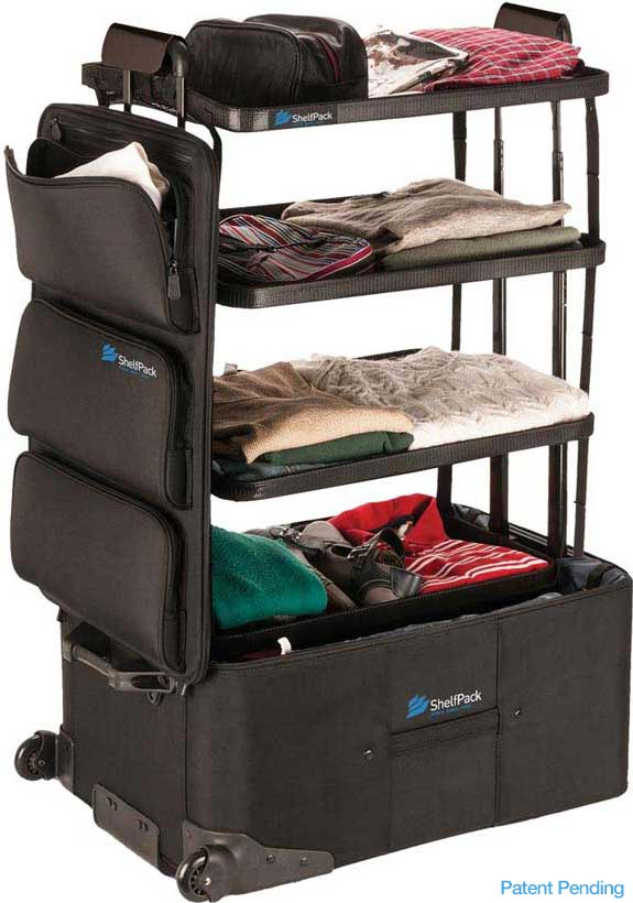 Shelfpack - the revolutionary suitcase with builtin shelves.
