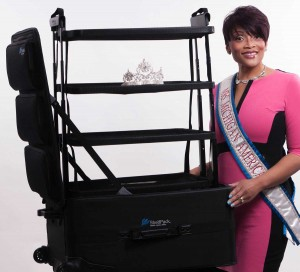 Mrs. Michigan 2015 with her ShelfPack