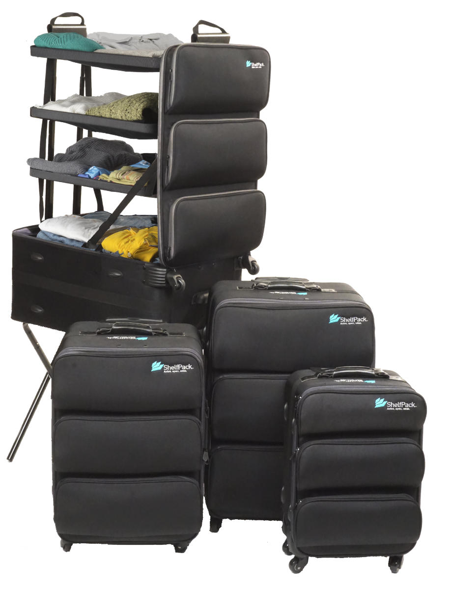 Shelfpack The Suitcase With Shelves Amp Luggage With Built